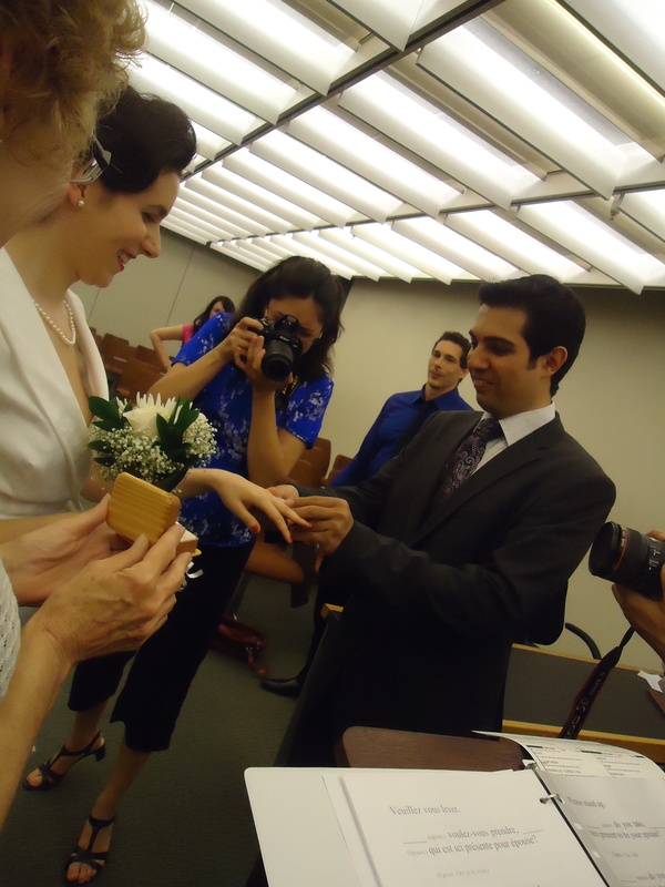 Lila and I got married during a civil ceremony